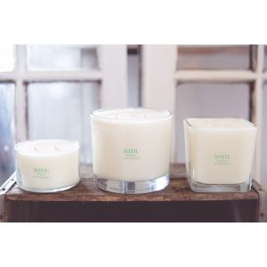 SOYIL 22 oz Square Natural Soy Wax Candles
