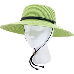 Women's Braided Sun Hat in Tea Green