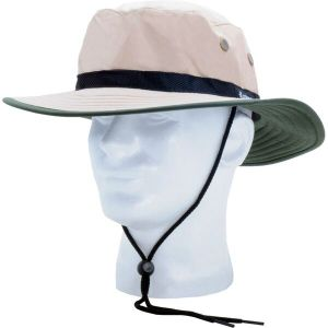 Unisex Nylon Sun Hat - Tan/Green UPF 50