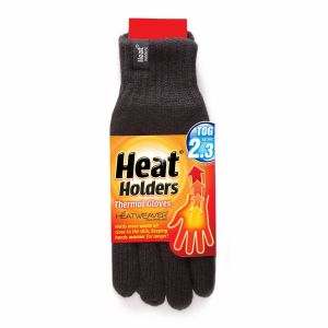 heat holders mens thermal winter gloves black