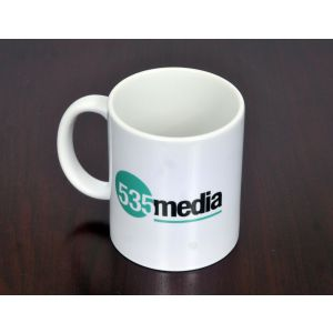 535 Media Logo Ceramic Coffee Mug - 11 ounce