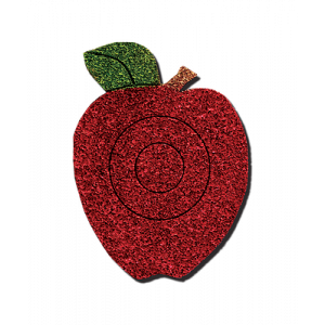 2D Archery Target Self-Healing - Red Apple