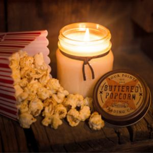 Buttered Popcorn Soy Wax Candle | Four Points Trading Co.