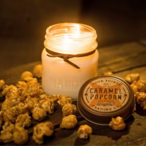 Caramel Popcorn Soy Wax Candle | Four Points Trading Co.