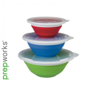 Prepworks Thinstore Collapsible Storage Bowl Set