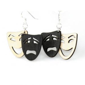Comedy Tragedy Theatre Masks Earrings | Green Tree Jewelry