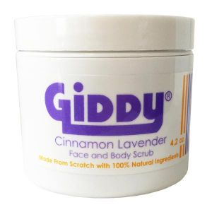 Giddy Cinnamon Lavender Face and Body Scrub