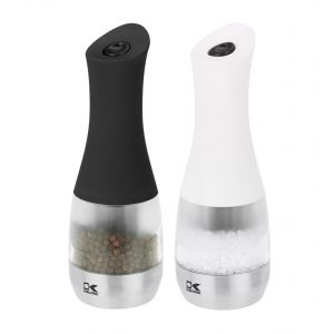 Kalorik Contempo Electric Salt and Peppermill Spice Grinder in Stainless Steel Black