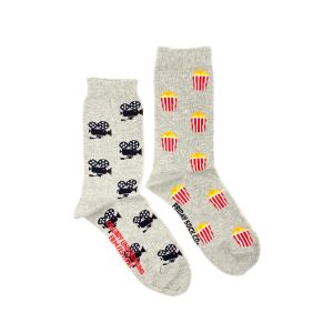 Popcorn and Movie Camera Women's Crew Socks | Friday Sock Co.