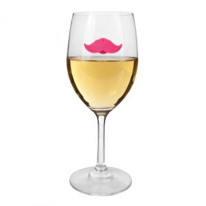 Silicone Wine Glass Charms Mustache Whiskers