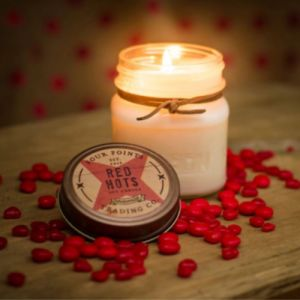 Red Hots Candy Soy Wax Candle | Four Points Trading Co.