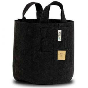 Root Pouch 10 Gallon Black Recycled Fabric Pot with Handles