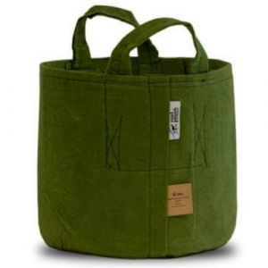 Root Pouch 15 Gallon Green Recycled Fabric Pot with Handles