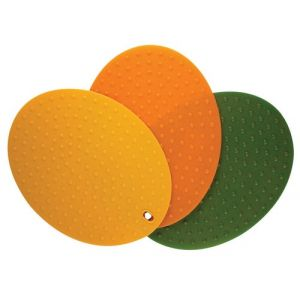 Silicone Oval Multi-Use Pit Trivets - Set of 3 colors