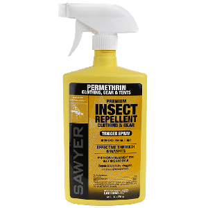 Permethrin Clothing and Gear Insect Repellent - 24 ounce trigger spray