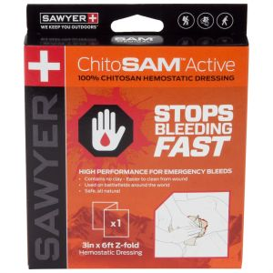ChitoSAM Active 3in x 6ft Z-Fold - Chitosan First Aid Dressing
