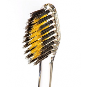 Nano-B Charcoal and Gold Antibacterial Toothbrush